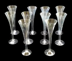 10x   Trumpet Champagne Flutes