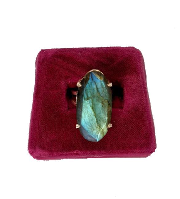 Silver Ring   Labradorite