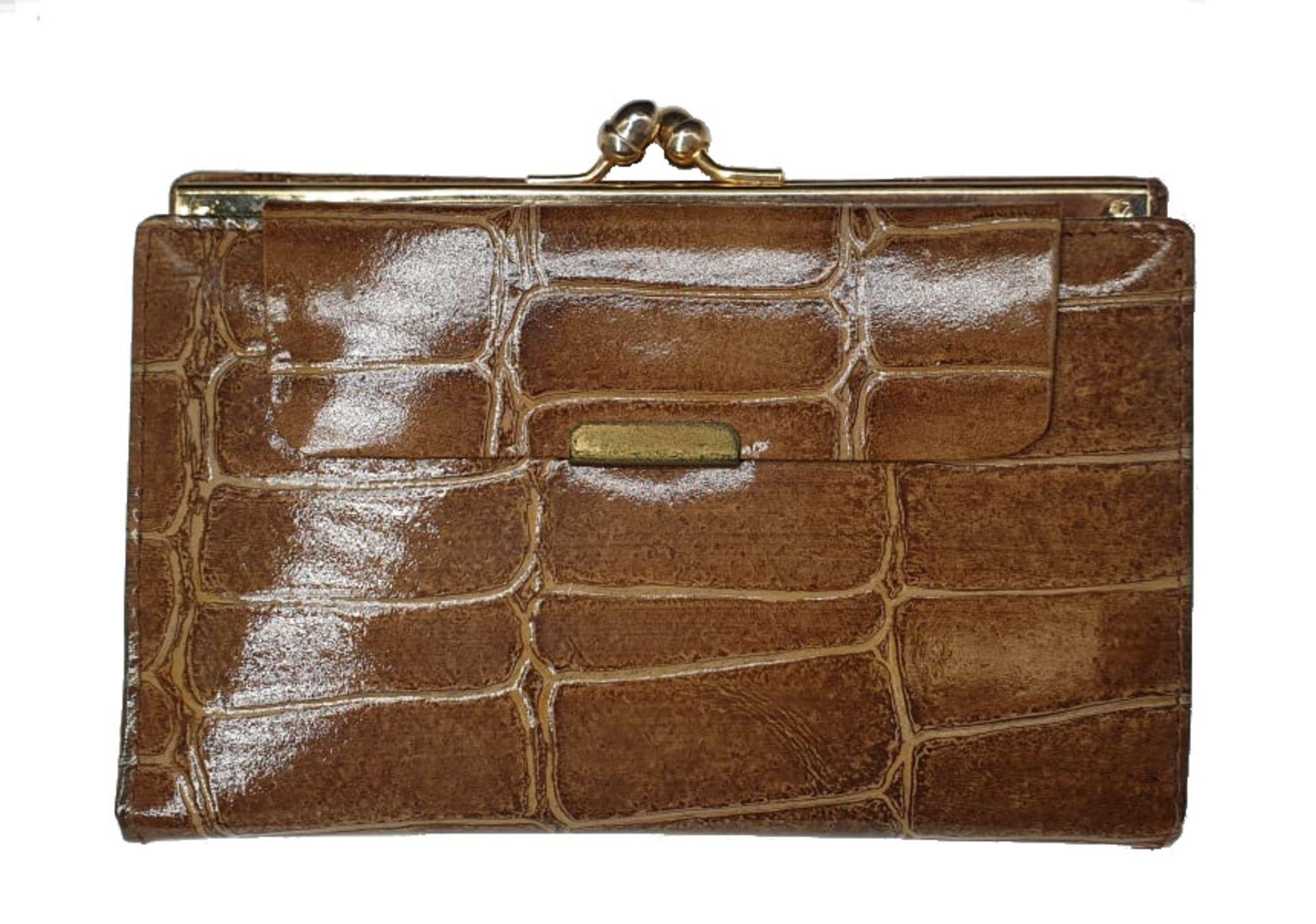Crocodile Handbag | Brown - Image 5 of 9
