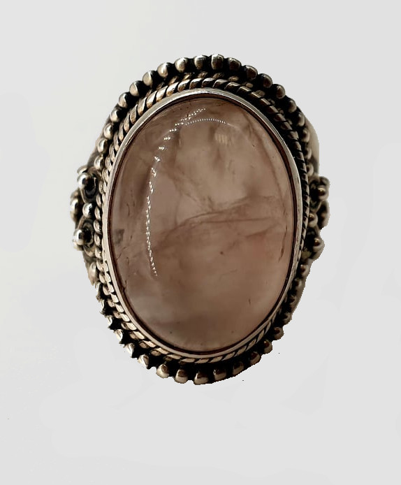 2x Silver Rings   Rose Quarz - Image 7 of 7