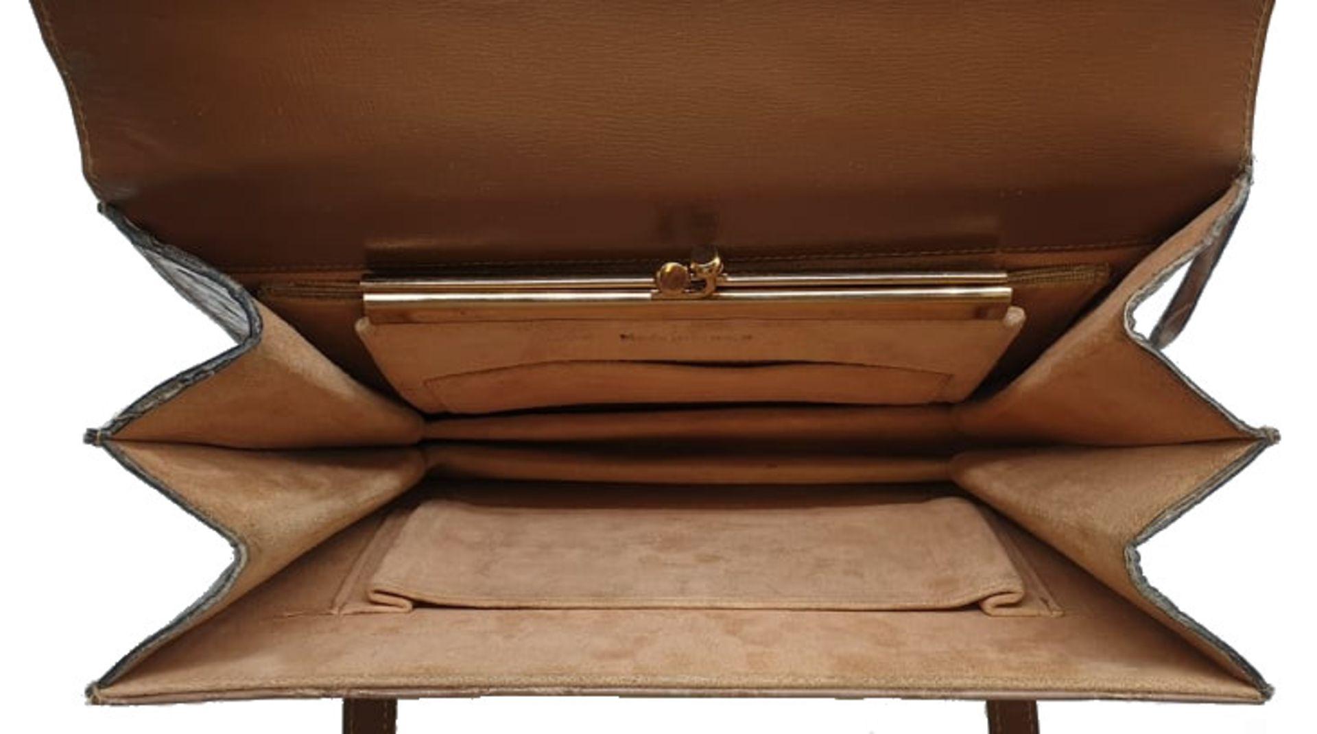 Crocodile Handbag | Brown - Image 4 of 9