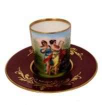 Franz Dorfl   Wiener Porzellan Cup & Saucer
