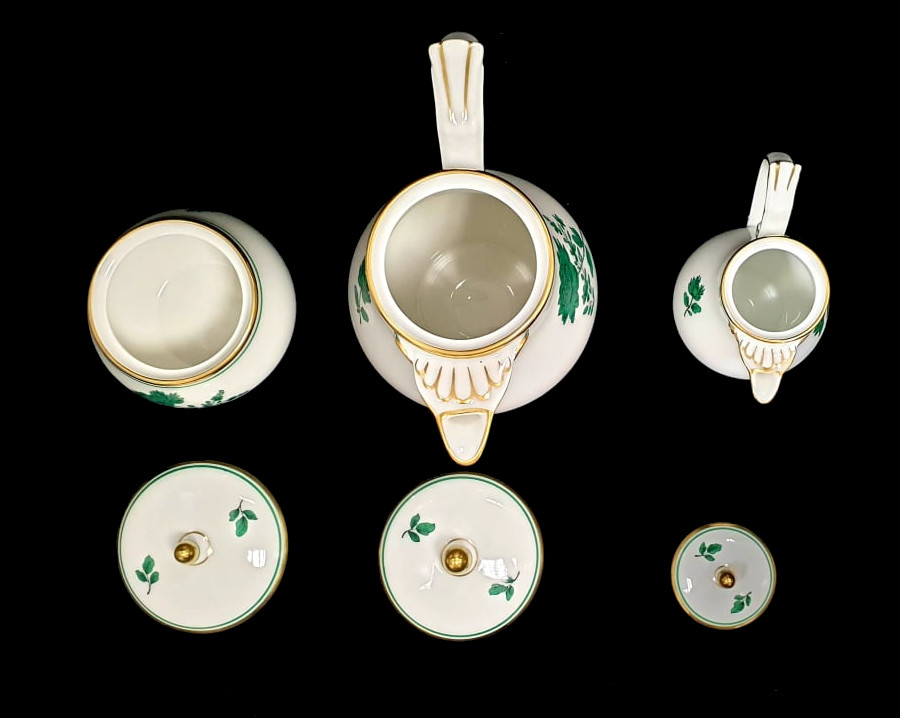 Augarten   18 Piece Mocca Set   Rare Form Nr. 75 - Image 3 of 7