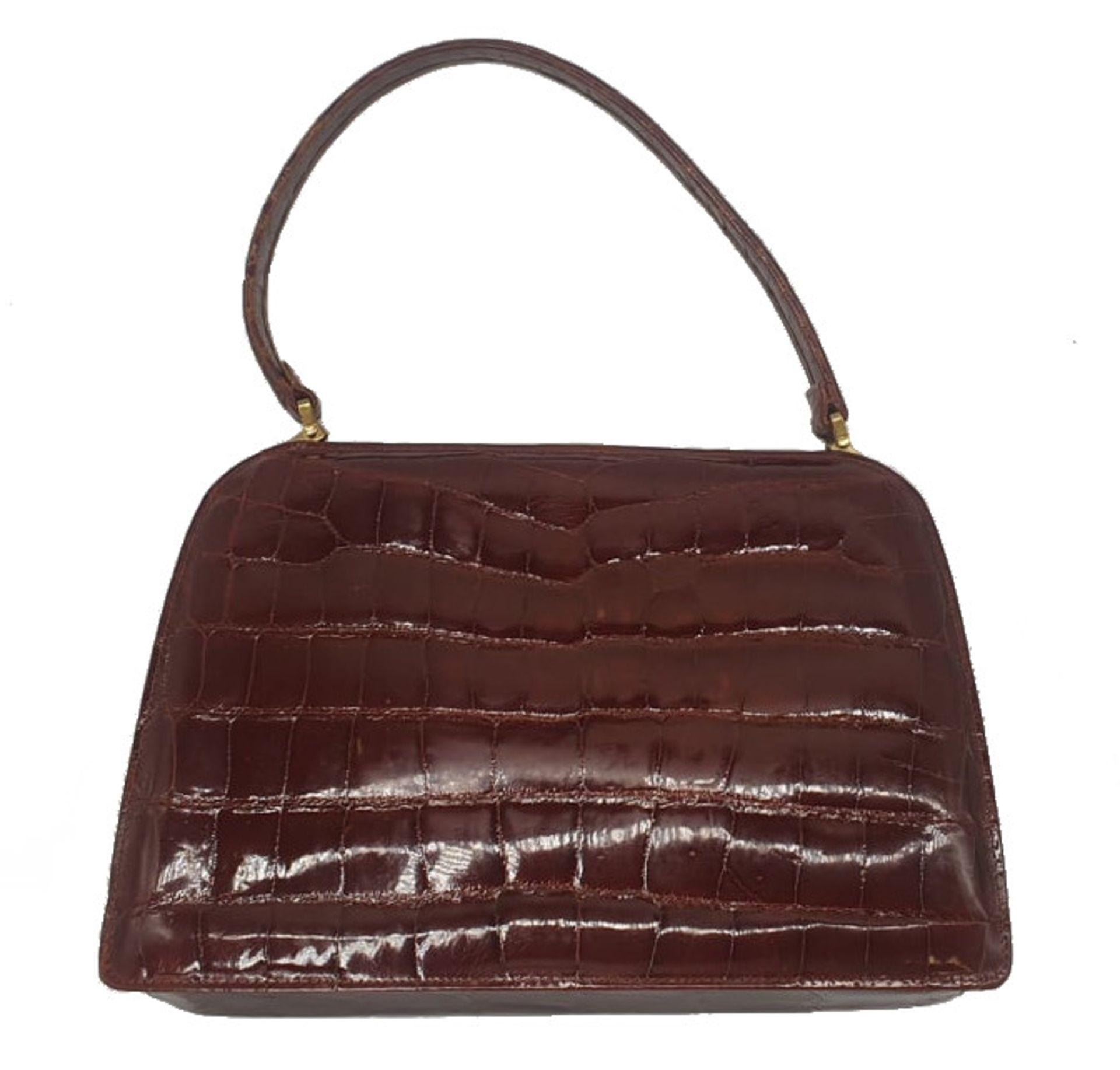 Crocodile Bag | Maroon - Image 3 of 8
