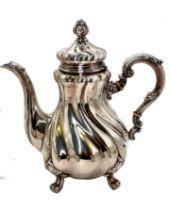 German Coffee Pot & Sugar Bowl   830 Silver