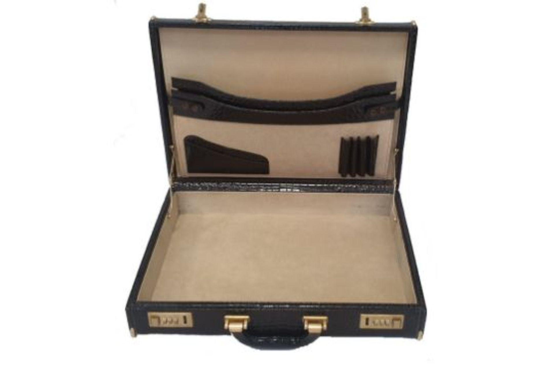 Crocodile Leather   Briefcase - Image 2 of 5