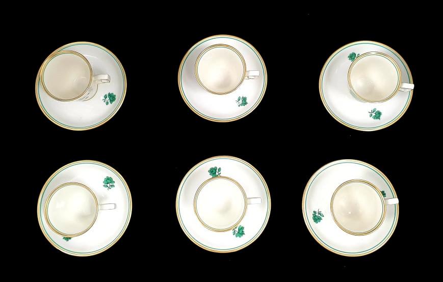 Augarten   18 Piece Mocca Set   Rare Form Nr. 75 - Image 6 of 7