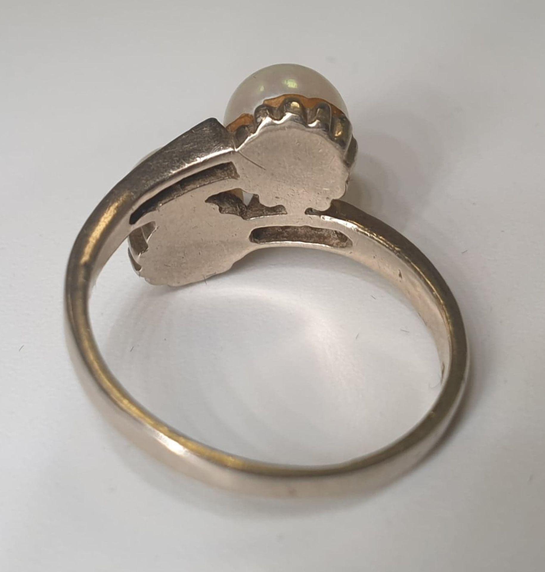 Akoya Pearls   Diamond   14K Gold - Image 2 of 5
