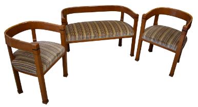 Biedermeier | 2 Armchairs & Setee Set