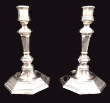Christofle | Pair Candlesticks | Silver-plate