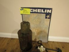 Michelin Map Sign, Paraffin cans, Horns and Michelin Man