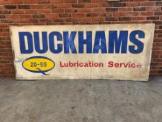 Very Large Duckhams 20-50 Lubrication Service Aluminium Sign