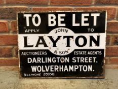 John Leyton & Son To Let Vintage Enamel Sign