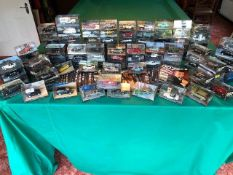 Collection of 100 Diecast models of the James Bond Collection