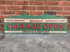 Wooden Castrol Display Sign