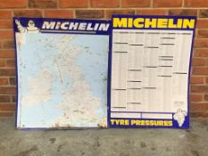 Michelin Map Sign and a Michelin Tyre Pressure Sign