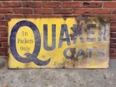 Quaker Oats Vintage Enamel Sign