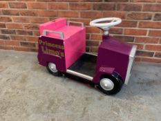 Childs Novelty Princess Limo's Sit On Car