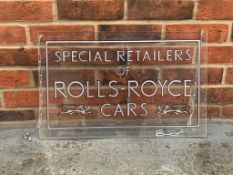Special retailers of Rolls Royce Cars Sign