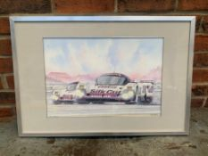 Watercolour of a Jaguar XJR12 by Steven Massey
