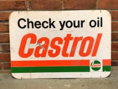 Castrol 'Check Your Oil' Single Sided Enamel Sign