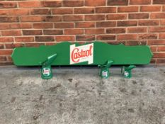 Castrol Wooden Display Board with Three Castrol Jugs