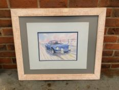 Watercolour of an Alpine Renault A110 by Steven Massey