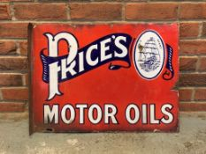 Prices Motor Oils, Double Sided Vintage Sign