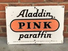 Aladdin Pink Paraffin Enamel Sign