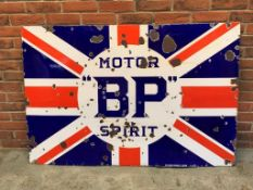 Large Vintage BP Motor Spirit Enamel Sign