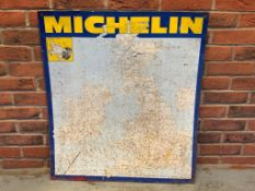 Michelin Tin Map Sign