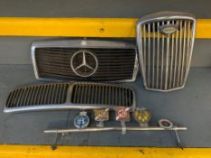 Wolseley, Mercedes and Daimler Grills, Badge Bar complete with badges