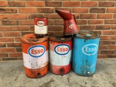 3 Esso 5 Gallon Cans, Esso Tin and Jug
