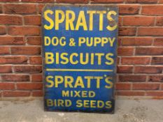 Spratt's Vintage Enamel Sign