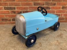 Childs Blue Metal Pedal Car