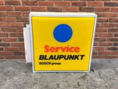 Blaupunkt Service, Double Sided Illuminated Sign