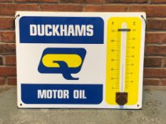 Duckhams Motor Oil Enamel Thermometer Sign