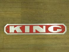 Cast Aluminium 'King' Sign