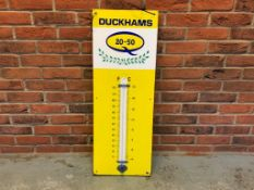 Duckhams 20-50 Vintage Enamel Thermometer Sign