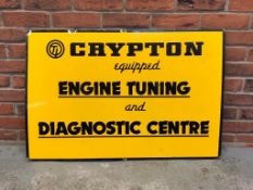 Crypton Engine Tuning Diagnostic Centre Enamel Sign