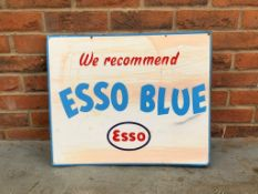 Double Sided Esso Blue Enamel Flange Sign