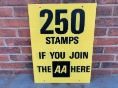 AA Stamps Perspex Sign