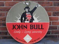 John Bull Tyres Single Sided Sign On Board