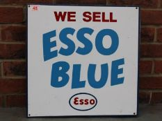 We Sell Esso Blue Vintage Double Sided Flanged Sign