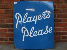 Vintage Players Please Enamel Sign