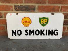 Shell And BP Original Enamel No Smoking Sign