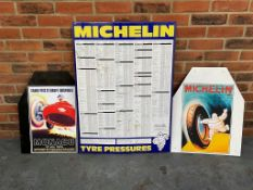 Michelin Tin Tyre Pressure Chart Together With Reproduction Monaco Grand Prix And Michelin Signs