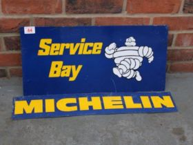Two Tin Michelin Signs