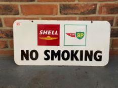 Shell And Air BP Original Enamel No Smoking Sign