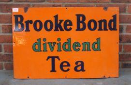 Brooke Bond Dividend Tea Enamel Sign